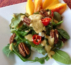 Salad with Peach Pecan Vinaigrette