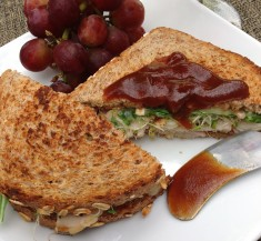 Grilled Turkey and Cheese with Apple Butter