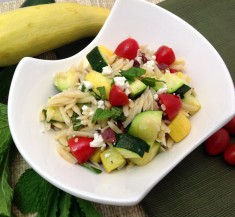 Minted Orzo and Zucchini Salad
