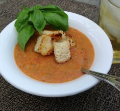 Peach and Tomato Gazpacho