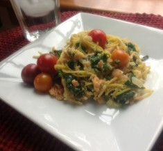 Smoked Salmon Kale Carbonara