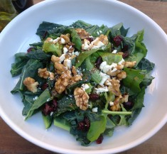 Cranberry Feta and Walnut Spinach Salad
