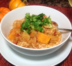 Crockpot Quinoa Pumpkin Chicken Stew