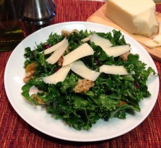 Kale Salad with Walnuts and Cranberries