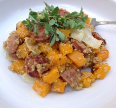 Quinoa with Butternut Squash and Sausage