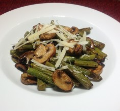 Roasted Balsamic Green Beans & Mushrooms