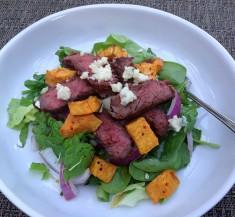 Steak Salad with Roasted Sweet Potatoes