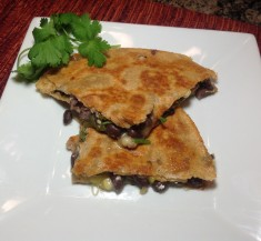 Black Bean Quesadillas with Goat Cheese