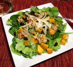 Butternut Squash Salad with Warm Cider Vinaigrette