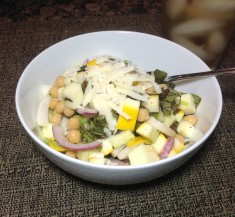 Garbanzo Bean and Zucchini Salad
