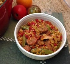 One-Pot Chicken and Sausage Paella
