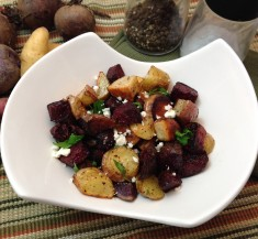 Mediterranean Roasted Potato and Beet Salad