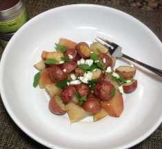 Roasted Potato and Beet Tangy Salad