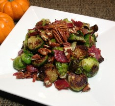 Balsamic Glazed Brussels Sprouts with Bacon and Onion