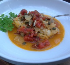 Herbed Tomato Cod with Capers