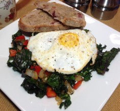 Bell Pepper and Kale Hash with Fried Egg
