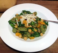 Gnocchi with Butternut Squash, Chickpeas and Kale