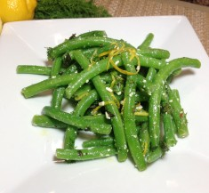 Green Beans with Fresh Herbs and Feta