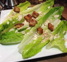 Hearts of Romaine Salad with Creamy Feta Dressing