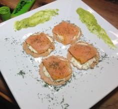 Smoked Salmon Wasabi Bites