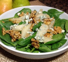 Warm Pear Salad with Gorgonzola