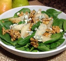 Warm Pear Salad with Gorgonzola
