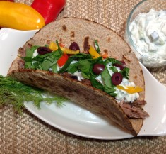 Greek Inspired Lamb Tacos