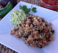 Southwest Quinoa with Simple Guacamole