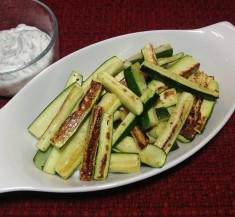 Zucchini Sticks with Yogurt Dill Sauce