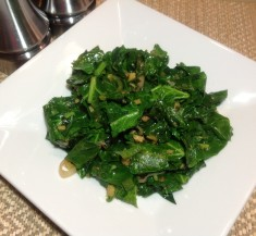 Stir Fried Greens with Jalapeno and Ginger