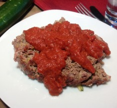 Venison Meatloaf with Tomato and Apple Ketchup