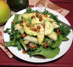Roasted Chickpeas and Pear Salad