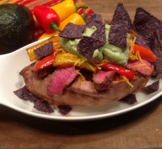 Chipotle Steak Fajita Stuffed Sweet Potato