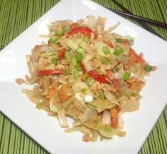 Peanut Cabbage Stir Fry