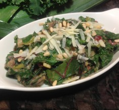 Creamy Kale and Swiss Chard