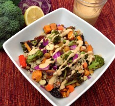 Roasted Veggie Bowl with Secret Sauce