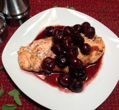 Pink Salmon with Balsamic Cherries