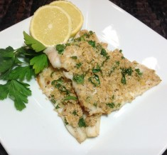 Herb and Panko Crusted White Fish
