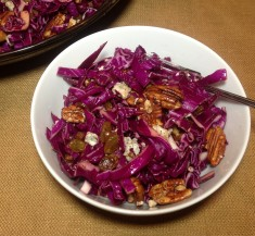 Red Cabbage Salad with Blue Cheese and Pecans
