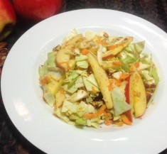 Apple Carrot and Pecan Curry Slaw