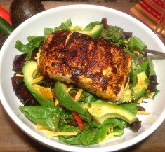 Chile Lime Salmon Fajita Salad