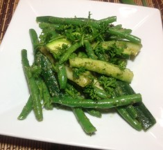 Green Beans and Zucchini with Sauce Verte