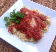 Catfish with Spicy Red Sauce
