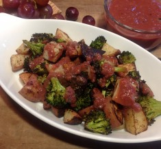 Roasted Vegetables with Roasted Grape Sauce