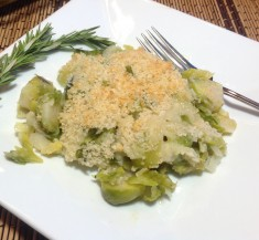 Brussels Sprouts and Leeks Gratin