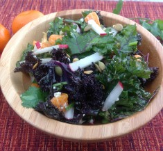 Kale, Clementine and Feta Salad with Honey Lime Dressing