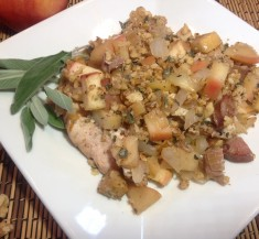 Sausage, Apple and Onion Chicken Skillet