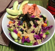 Veggie Sushi Bowl with Creamy Wasabi Sauce