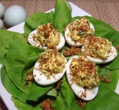 Caesar Style Deviled Eggs