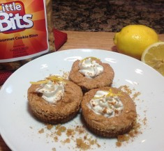 Mini Lemon Gingersnap Cheesecakes